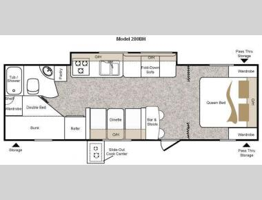 Floorplan - 2010 Keystone RV Passport 280BH