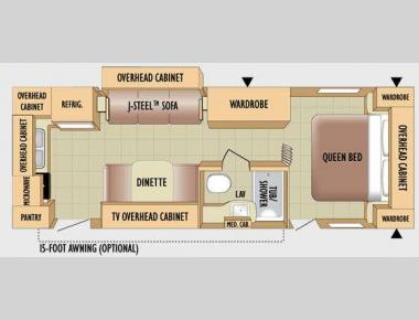 Floorplan - 2010 Jayco Jay Flight 24RKS