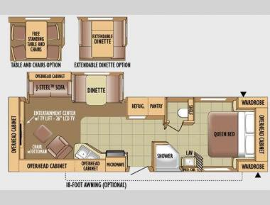 Floorplan - 2010 Jayco Eagle Super Lite 318RLS