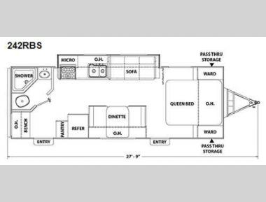 Floorplan - 2010 Coachmen RV Freedom Express 242RBS