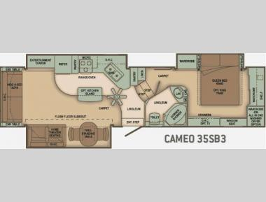 Floorplan - 2010 Carriage Cameo 35SB3