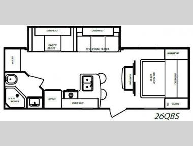 Floorplan - 2010 Gulf Stream RV Streamlite 26QBS