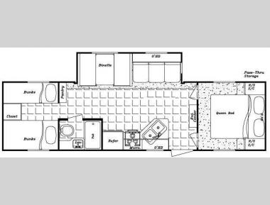 Floorplan - 2010 Gulf Stream RV Kingsport 301 TB