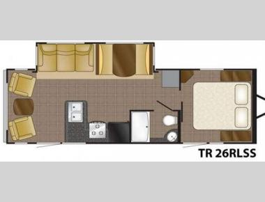 Floorplan - 2011 Heartland Trail Runner 26 RLSS