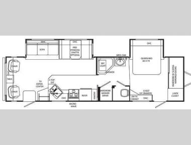 Floorplan - 2011 Holiday Rambler Savoy LX 34 SKD