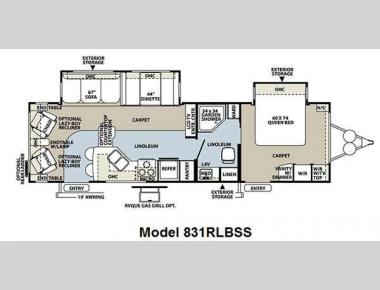 Floorplan - 2011 Forest River RV Flagstaff Classic Super Lite 831RLBSS
