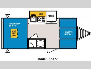 Floorplan - 2011 Forest River RV R Pod RP-177