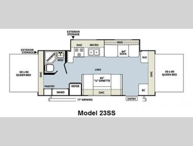 Floorplan - 2011 Forest River RV Rockwood Roo 23SS