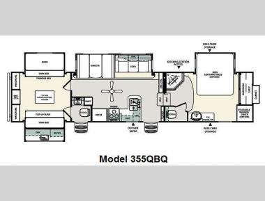Floorplan - 2011 Forest River RV Sierra 355QBQ