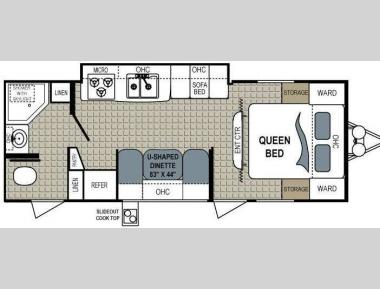 Floorplan - 2011 Dutchmen RV Aerolite 256RBGS