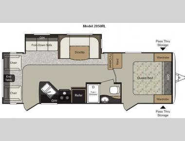Floorplan - 2011 Keystone RV Passport 2850RL Grand Touring