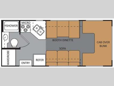 Floorplan - 2011 Four Winds RV Four Winds 21RB