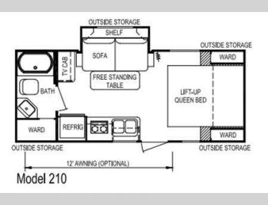 Floorplan - 2010 Skyline Nomad Ultra-Lite 210