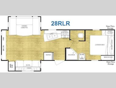 Floorplan - 2011 Gulf Stream RV Conquest 28RLR