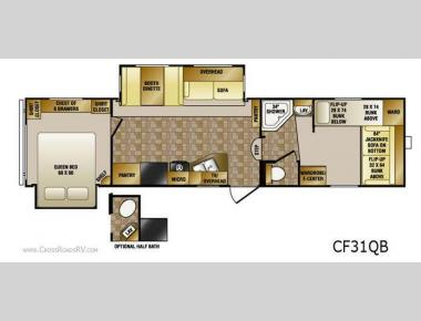 Floorplan - 2011 CrossRoads RV Cruiser CF31QB