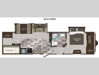 Floorplan - 2011 Keystone RV Cougar High Country 296BHS