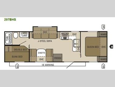 Floorplan - 2011 Starcraft  Autumn Ridge 297BHS