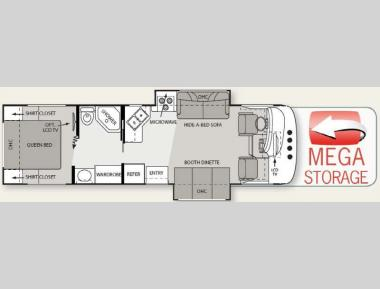 Floorplan - 2011 Four Winds RV Hurricane 31D