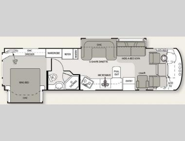 Floorplan - 2011 Four Winds RV Hurricane 34U