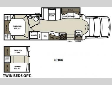 Floorplan - 2011 Coachmen RV Concord 301SS