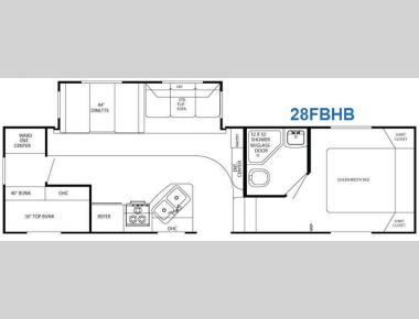 Floorplan - 2011 Gulf Stream RV Canyon Trail 28 FBHB XLT