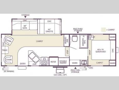 Floorplan - 2006 Forest River RV Wildwood LE 27RLSS LE
