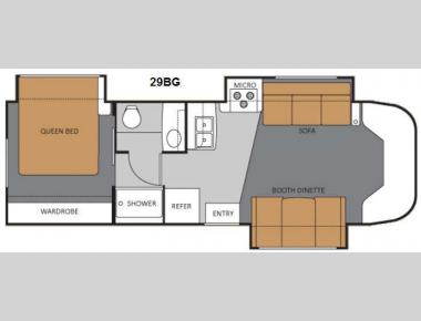 Floorplan - 2011 Thor Motor Coach Four Winds Siesta 29BG