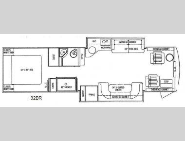 Floorplan - 2011 Tiffin Motorhomes Allegro Breeze 32BR