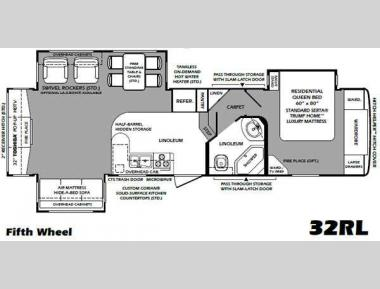 Floorplan - 2011 Forest River RV Wildcat Sterling Edition 32RL