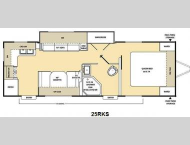 Floorplan - 2011 Coachmen RV Catalina 25RKS