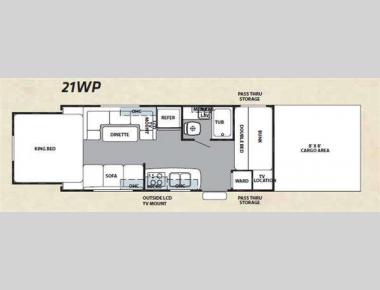 Floorplan - 2011 Forest River RV Cherokee Wolf Pack Sport 21WP