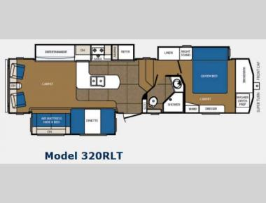 Floorplan - 2012 Prime Time Manufacturing Crusader 320RLT