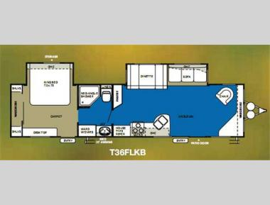 Floorplan - 2012 Forest River RV Wildwood 36FLKB