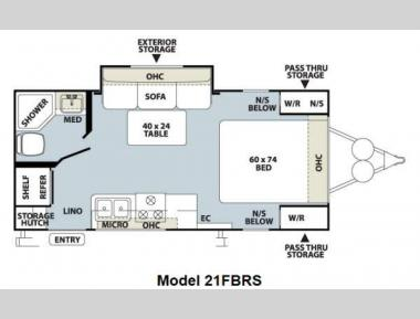 Floorplan - 2012 Forest River RV Flagstaff Micro Lite 21FBRS