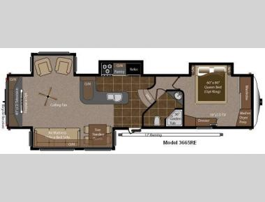 Floorplan - 2012 Keystone RV Montana Big Sky 3665 RE