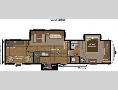 Floorplan - 2012 Keystone RV Mountaineer 347THT