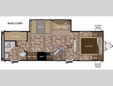 Floorplan - 2012 Keystone RV Sprinter 272BHS