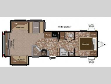 Floorplan - 2012 Keystone RV Sprinter 297RET