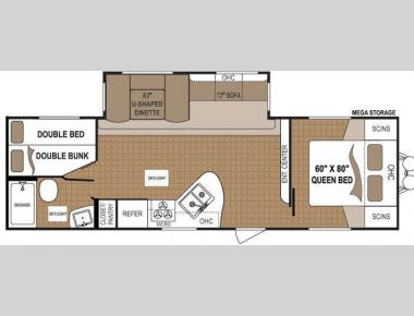 Floorplan - 2012 Dutchmen RV Aspen Trail 2810BHS