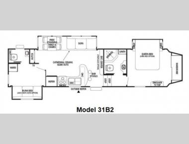 Floorplan - 2012 Forest River RV Cedar Creek Silverback 31B2