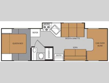 Floorplan - 2012 Thor Motor Coach Four Winds 28Z