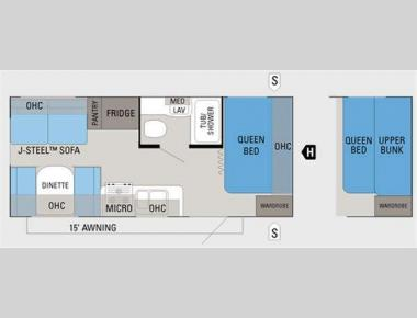 Floorplan - 2012 Jayco Jay Flight 19RD