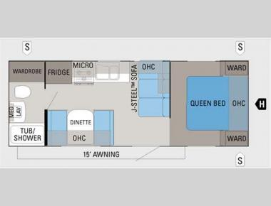 Floorplan - 2012 Jayco Jay Flight G2 23FB