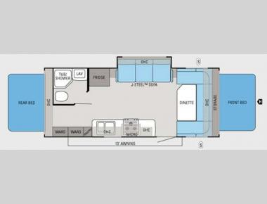 Floorplan - 2012 Jayco Jay Feather Ultra Lite X23B