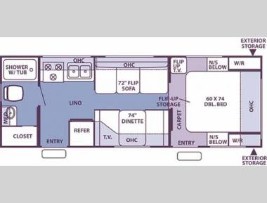 Floorplan - 2006 Forest River RV Flagstaff 25 D