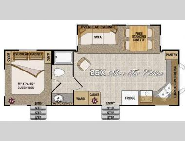 Floorplan - 2011 Northwood Arctic Fox 26X