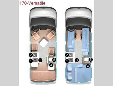 Floorplan - 2012 Roadtrek 170-Versatile