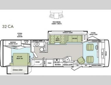 Floorplan - 2012 Tiffin Motorhomes Allegro 32 CA