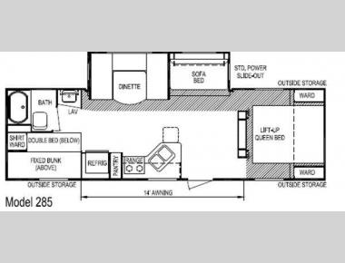 Floorplan - 2012 Skyline Nomad Joey Select 285