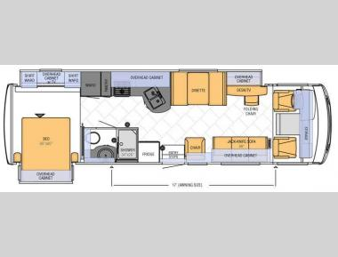 Floorplan - 2012 Newmar Bay Star 3305